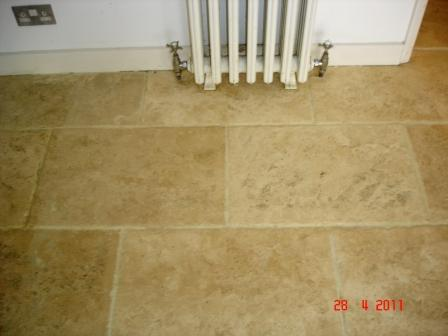 Travertine After Cleaning and Sealing