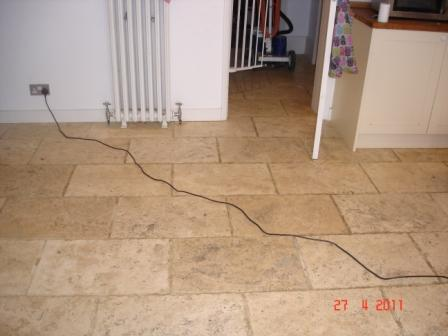 Travertine Before Cleaning and Sealing