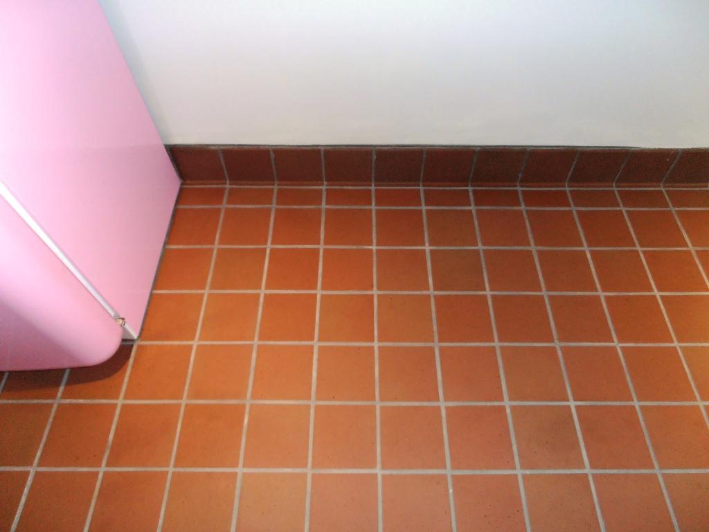 Quarry Tile Floor After