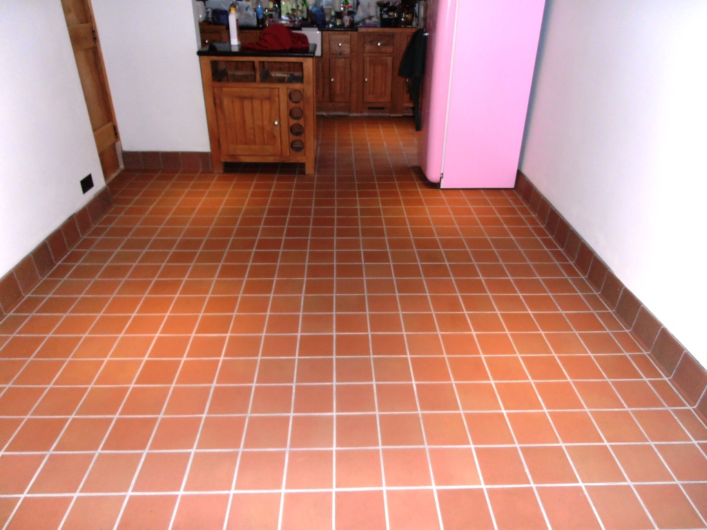 Quarry Tile Floor After