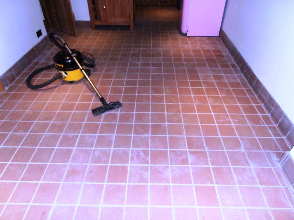 Quarry Tile Floor Before