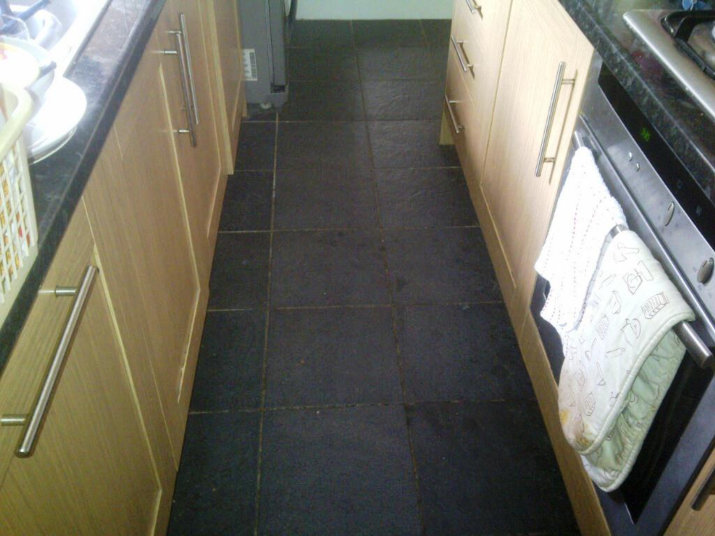 Kitchen Tile Before Cleaning