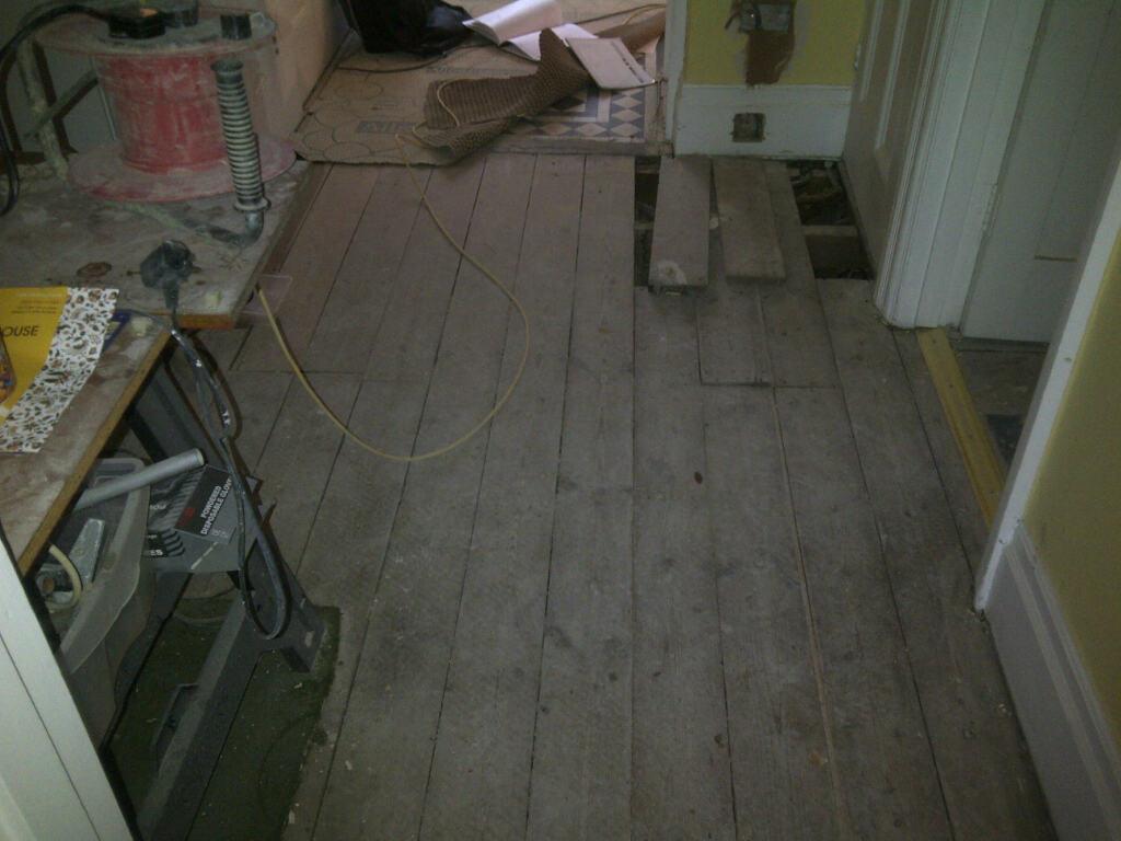 Geometric Victorian Floor Restoration Bromley Before