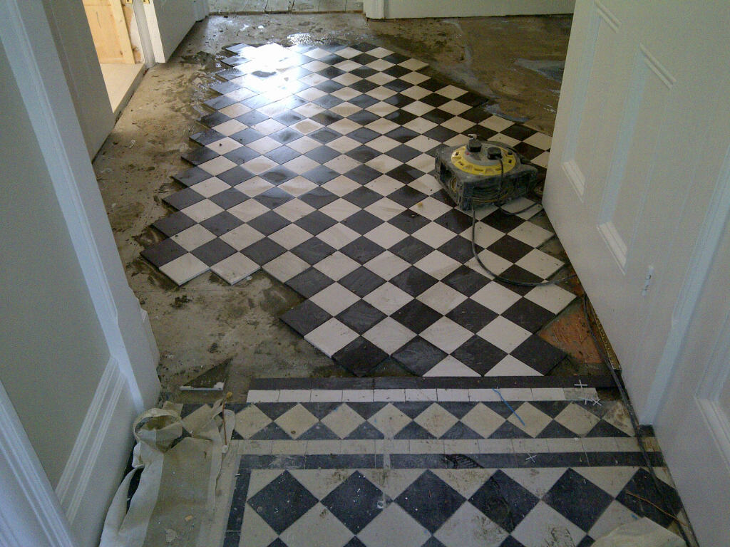 Extending and restoring a victorian hallway in kent cleaning and geometric victorian floor restoration bromley during tiling doublecrazyfo Gallery