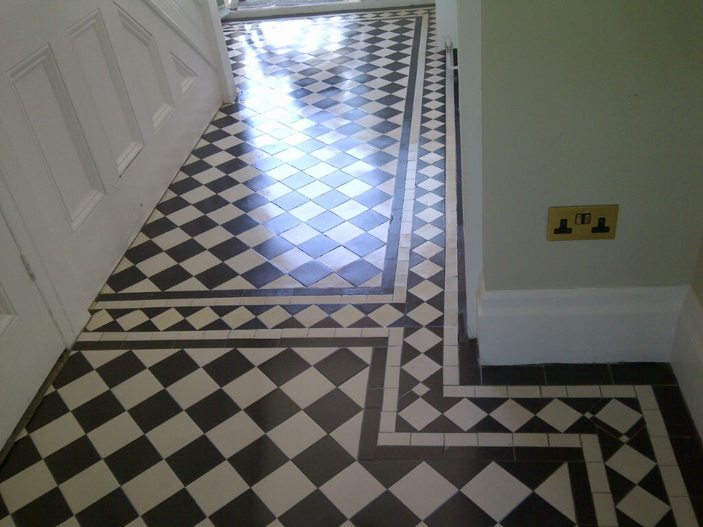 Geometric Victorian Floor Restoration Bromley Sealed