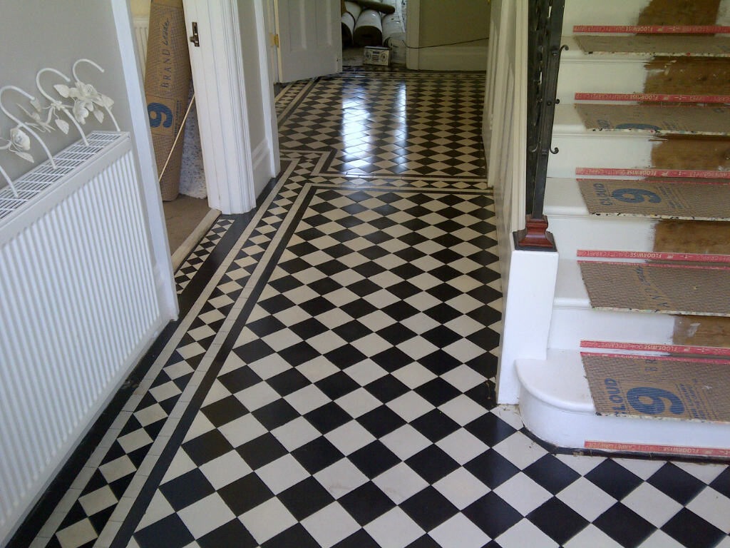 Geometric Victorian Floor Restoration Bromley Tiling Complete