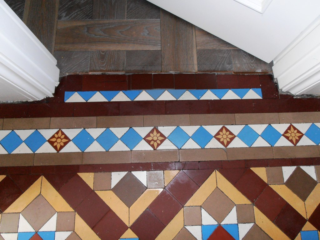 Victorian floor after cleaning and rebuilding Sevenoaks