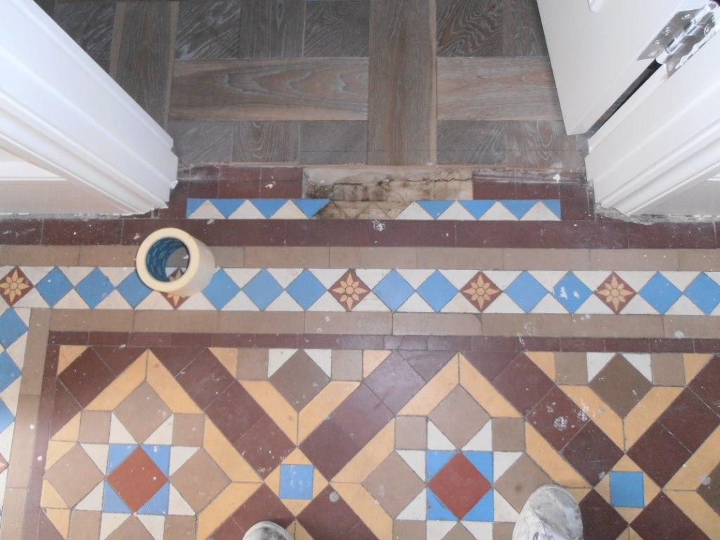 Victorian floor before cleaning Sevenoaks