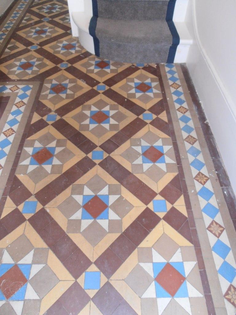 Victorian floor before cleaning Sevenoaks