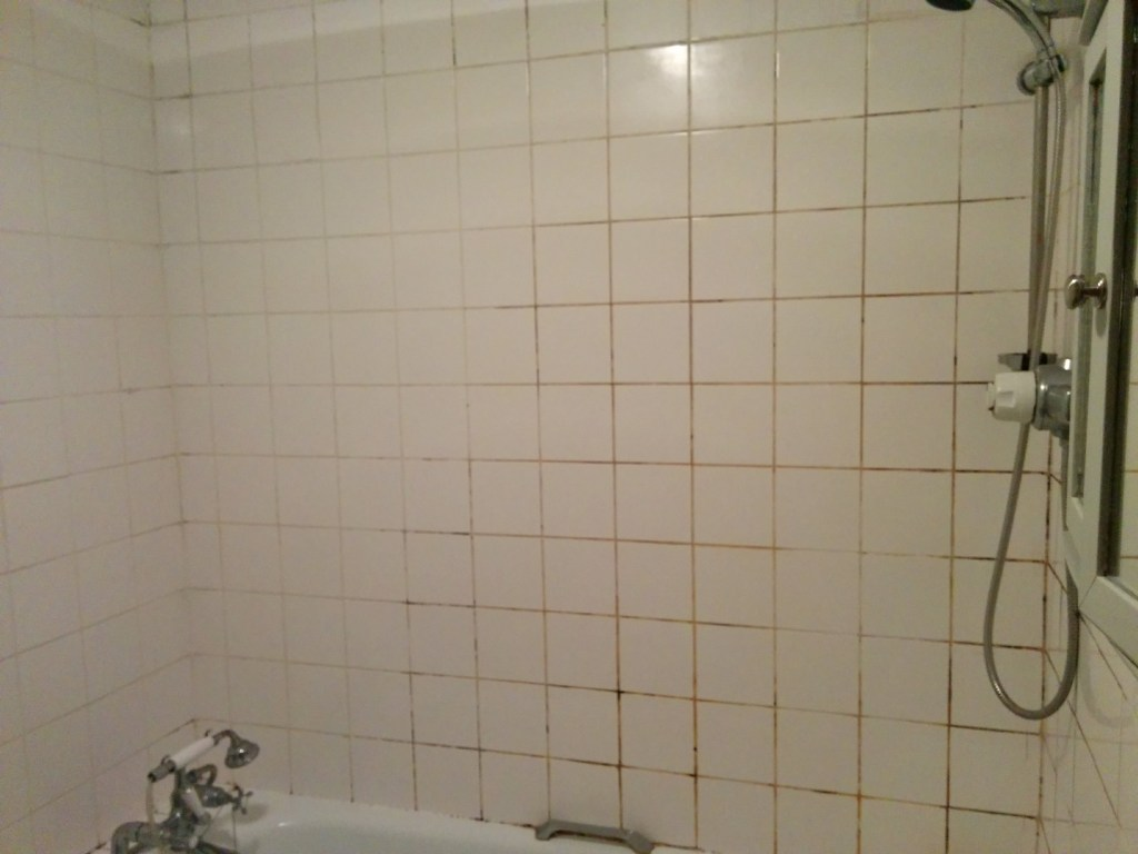 Ceramic Bathroom Tiles Grout Before Cleaning Beckenham