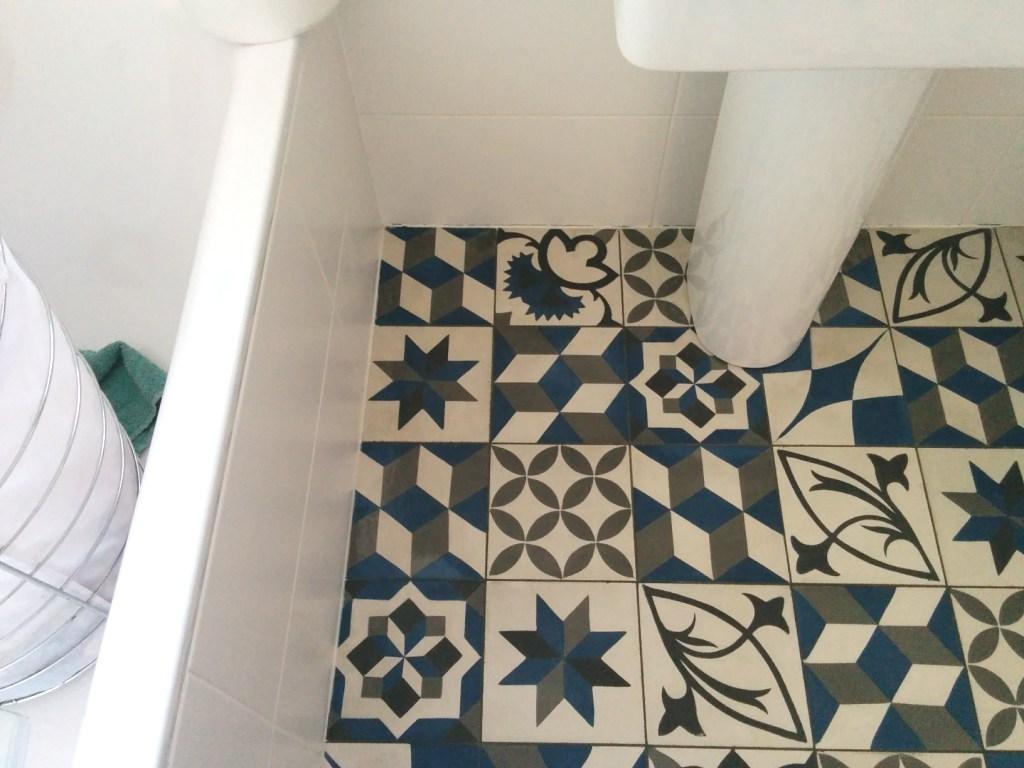 Concrete Encaustic Bathroom Floor Tiles After Cleaning Sydenham