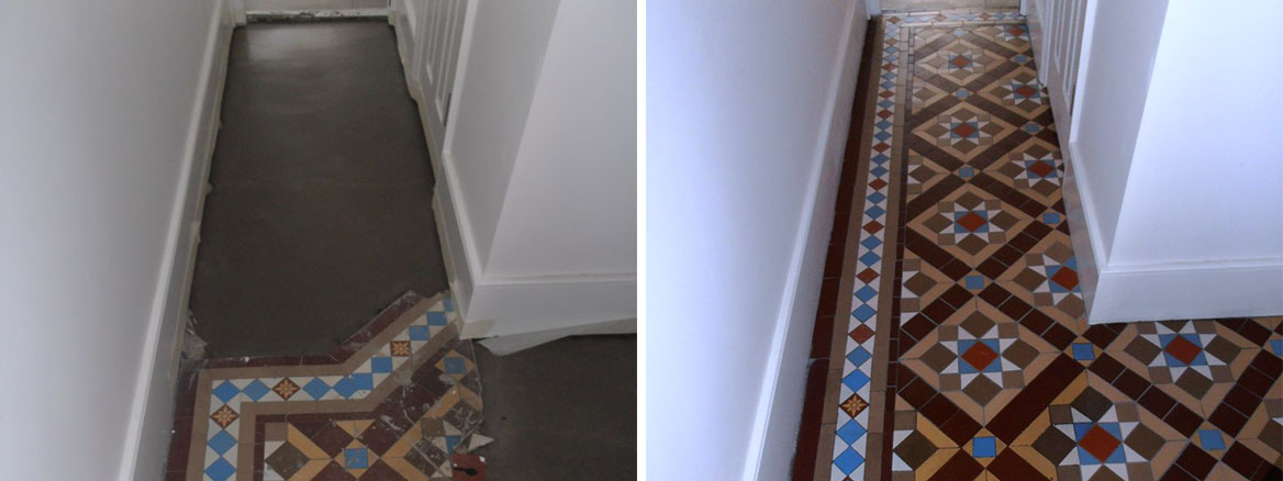Original Victorian Tiled Hallway Extended and Refreshed in Sevenoaks