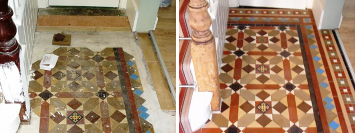 Victorian Floor Restored Before and After