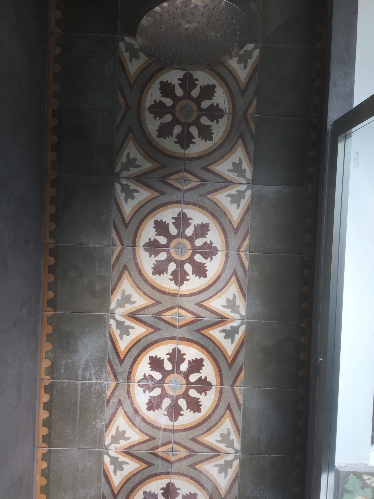Encaustic Shower Tiles Before Renovation SE23